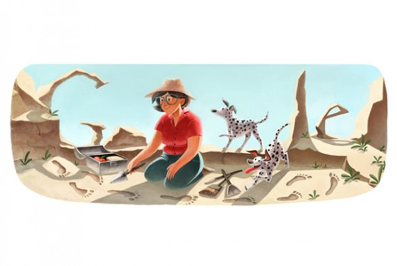 Mary Leakey's 100th Birthday Doodle