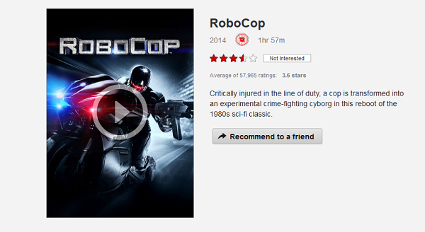 robocop on Netflix