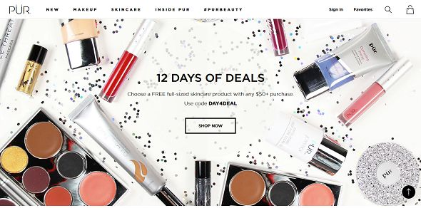 PÜR Cosmetics 12 Days of Deals